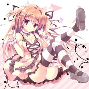 Rating: Questionable Score: 93 Tags: azumi_kazuki cleavage dress pantsu thighhighs User: blooregardo