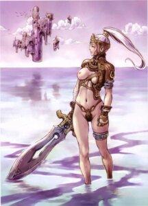 Rating: Questionable Score: 28 Tags: breasts nipples sword thong yamashita_shunya User: DLS84