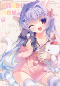 Rating: Questionable Score: 27 Tags: animal_ears cleavage nekomimi peach_candy tail thighhighs yukie User: Radioactive