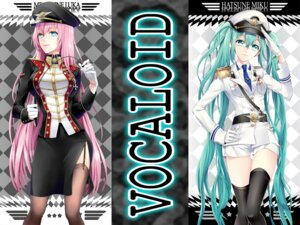 Rating: Safe Score: 39 Tags: cocoon_(loveririn) hatsune_miku megurine_luka stockings thighhighs uniform vocaloid wallpaper User: GeniusMerielle