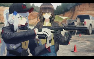 Rating: Safe Score: 38 Tags: girls_frontline gun headphones hk416_(girls_frontline) ladic m16a1_(girls_frontline) megane smoking User: Dreista