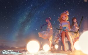 Rating: Safe Score: 55 Tags: alphonse dress kurosawa_dia love_live!_sunshine!! matsuura_kanan ohara_mari signed summer_dress wallpaper User: Mr_GT