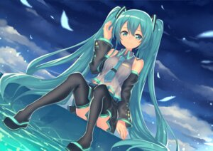 Rating: Safe Score: 43 Tags: hajime_kaname hatsune_miku thighhighs vocaloid User: Mr_GT