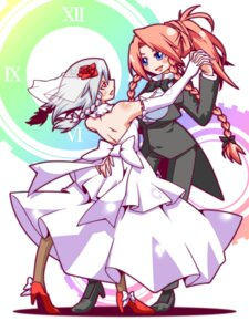 Rating: Safe Score: 2 Tags: dress hong_meiling izayoi_sakuya pantyhose shuushokuna_ekus touhou wedding_dress User: Mr_GT