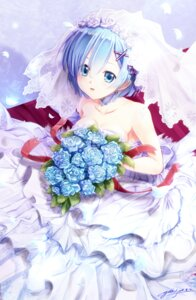 Rating: Safe Score: 52 Tags: cleavage dress re_zero_kara_hajimeru_isekai_seikatsu rem_(re_zero) wedding_dress yuitsuki1206 User: Mr_GT