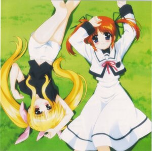 Rating: Safe Score: 5 Tags: fate_testarossa mahou_shoujo_lyrical_nanoha mahou_shoujo_lyrical_nanoha_a's takamachi_nanoha User: Radioactive