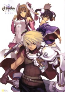 Rating: Safe Score: 4 Tags: ar_tonelico aurica_nestmile lyner_barsett misha_arsellec_lune nagi_ryou User: fireattack