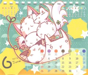 Rating: Safe Score: 19 Tags: calendar chibi hisuitei izumi_tsubasu neko paper_texture User: peoplo