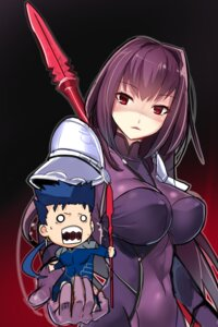 Rating: Safe Score: 52 Tags: bodysuit chibi erect_nipples fate/grand_order fate/stay_night lancer scathach_(fate/grand_order) weapon yamacchi User: Mr_GT