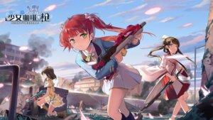 Rating: Questionable Score: 10 Tags: girl_cafe_gun gun kikuri_yuki miko rococo_(girl_cafe_gun) seifuku su_xiaozhen sword tagme wallpaper User: zyll