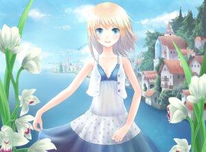 Rating: Safe Score: 47 Tags: dress landscape minato_(shouno) summer_dress wallpaper User: Radioactive