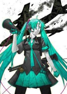 Rating: Safe Score: 10 Tags: gun hatsune_miku itou_(onnsokutassha) koi_wa_sensou_(vocaloid) pantyhose vocaloid User: Radioactive