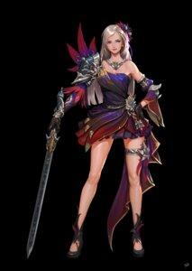Rating: Safe Score: 33 Tags: cleavage daejun_park dress garter heels sword tagme User: NotRadioactiveHonest