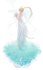 Rating: Questionable Score: 25 Tags: dress no_bra ohisashiburi wedding_dress User: yanis