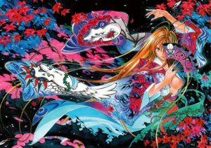 Rating: Questionable Score: 10 Tags: kimono natsume_aya no_bra oh!_great open_shirt tenjou_tenge User: Radioactive