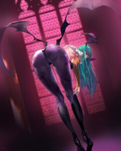 Rating: Questionable Score: 170 Tags: ass cameltoe dark_stalkers heels morrigan_aensland no_bra pantyhose wings yang-do User: Mr_GT