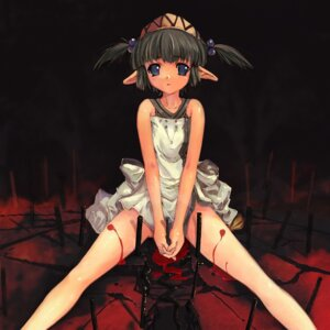 Rating: Explicit Score: 23 Tags: blood elf hitomaru koudelka loli nopan pointy_ears shrine User: EchelonV