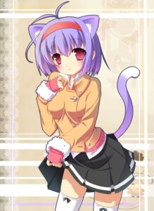 Rating: Safe Score: 32 Tags: animal_ears masaki_(machisora) nekomimi skirt_lift tail thighhighs User: inumimi.7