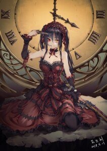 Rating: Questionable Score: 45 Tags: bad_old_driver cleavage date_a_live dress gothic_lolita gun heterochromia lolita_fashion pantyhose tokisaki_kurumi User: yanis