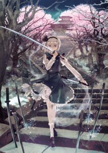 Rating: Safe Score: 71 Tags: konpaku_youmu miyuki_ruria sword touhou User: blooregardo