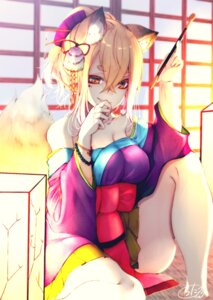 Rating: Safe Score: 21 Tags: animal_ears chita_(ketchup) cleavage japanese_clothes kitsune tail User: Mr_GT