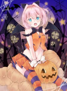 Rating: Safe Score: 25 Tags: halloween kantai_collection shiranui_(kancolle) thighhighs u_yuz_xx wings witch User: Mr_GT