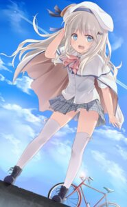 Rating: Questionable Score: 55 Tags: little_busters! noumi_kudryavka pantsu seifuku supertie thighhighs User: Platinum