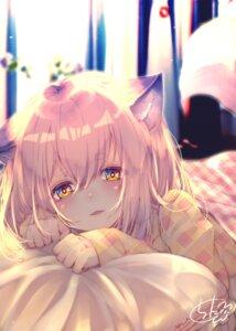 Rating: Safe Score: 29 Tags: animal_ears chita_(ketchup) kitsune pajama sheets tail User: BattlequeenYume