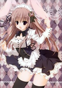 Rating: Safe Score: 46 Tags: animal_ears bunny_ears cleavage inugami_kira maid thighhighs User: Hatsukoi