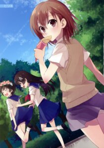 Rating: Safe Score: 16 Tags: hijiki misaka_mikoto saten_ruiko seifuku skirt_lift to_aru_kagaku_no_railgun to_aru_majutsu_no_index uiharu_kazari User: fireattack