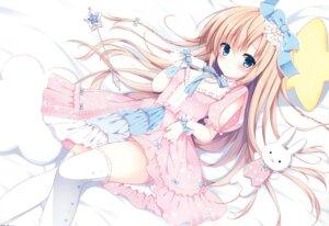 Rating: Safe Score: 78 Tags: detexted dress izumi_nanase skirt_lift thighhighs User: midori1601