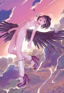 Rating: Explicit Score: 112 Tags: geister heels naked nipples pussy shameimaru_aya touhou uncensored wings User: Moebius_Strip