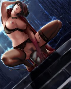 Rating: Explicit Score: 106 Tags: bra breasts garter_belt horns nipples nopan pubic_hair sisshou_senkoku stockings tail thighhighs User: Mr_GT