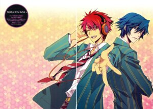 Rating: Safe Score: 10 Tags: carnelian gap headphones ichinose_tokiya ittoki_otoya male scanning_artifacts seifuku uta_no_prince_sama User: charunetra