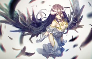Rating: Safe Score: 90 Tags: albedo_(overlord) cleavage dress horns infukun overlord wings User: charunetra