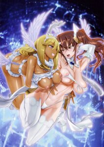 Rating: Questionable Score: 61 Tags: akutsu_kirara bikini breasts heels inazuma kuramoto_erika mahou_shoujo_(raita) nipples panty_pull swimsuits thighhighs wardrobe_malfunction wings yuri User: demonbane1349