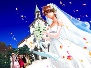 Rating: Safe Score: 3 Tags: dress fate/stay_night fujimura_taiga illyasviel_von_einzbern leysritt matou_sakura sella toosaka_rin type-moon wallpaper wedding_dress User: Syko83