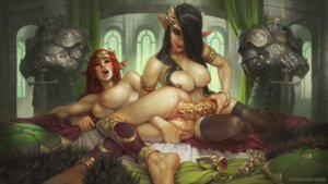 Rating: Explicit Score: 52 Tags: armor calm dildo elf naked nipples pointy_ears pussy pussy_juice thighhighs uncensored yuri User: Radioactive