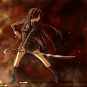 Rating: Safe Score: 46 Tags: akiyama_mio ga-rei_zero isayama_yomi k-on! nekoro parody seifuku sword User: Binabik