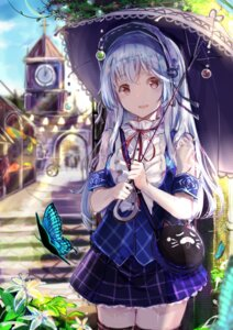 Rating: Questionable Score: 43 Tags: see_through tagme thighhighs umbrella User: kasuie