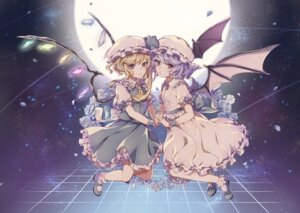 Rating: Safe Score: 31 Tags: dress flandre_scarlet heels nekoshiro remilia_scarlet touhou wings User: charunetra