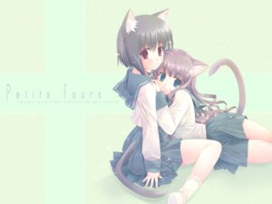 Rating: Safe Score: 16 Tags: animal_ears nekomimi rise seifuku touto_seiro wallpaper User: together