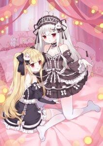 Rating: Safe Score: 36 Tags: cleavage gothic_lolita lolita_fashion niliu_chahui no_bra skirt_lift thighhighs tokisaki_asaba tokisaki_mio tsubasa_tsubasa User: Mr_GT