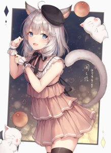 Rating: Safe Score: 68 Tags: animal_ears ayuanlv final_fantasy final_fantasy_xiv miqo'te moogle tail thighhighs User: Mr_GT