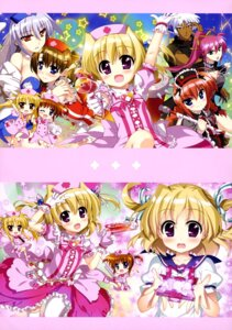 Rating: Safe Score: 32 Tags: animal_ears chibi dress fate_testarossa fujima_takuya gothic_lolita gun lolita_fashion mahou_shoujo_lyrical_nanoha nurse reinforce seifuku shamal signum takamachi_nanoha thighhighs vita weapon yagami_hayate zafira User: drop