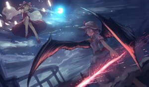 Rating: Safe Score: 34 Tags: hakurei_reimu mifuru remilia_scarlet touhou wings User: mattiasc02