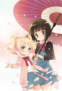 Rating: Safe Score: 28 Tags: alice_cartelet hara_yui kin'iro_mosaic oomiya_shinobu seifuku User: yong
