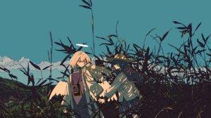 Rating: Safe Score: 36 Tags: angel cogecha dress landscape seifuku wings User: charunetra