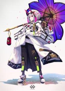 Rating: Safe Score: 29 Tags: fukai_ryousuke heels horns pixiv_fantasia_age_of_starlight pointy_ears umbrella User: Mr_GT