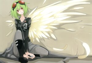 Rating: Safe Score: 26 Tags: chroma_of_wall gumi pantyhose tansuke vocaloid wings User: midzki